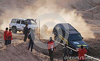 Desert car race Editorial Photography