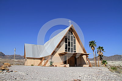USA, California/Shoshone:  Church