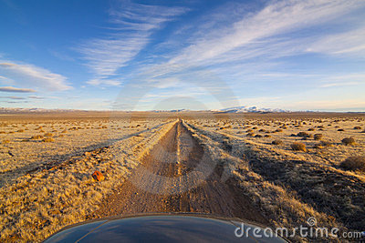 Desert Dirt Road with Hood