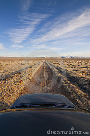 Desert Dirt Road with Truck
