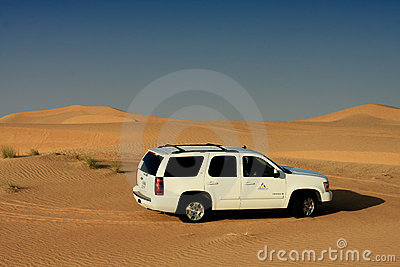 Desert Driving Editorial Stock Photo