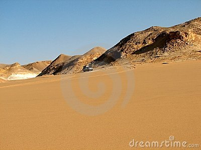 Desert In Egypt Royalty Free Stock Photo