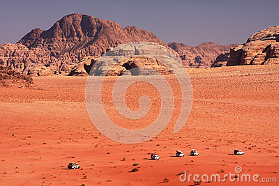 Desert expedition Editorial Stock Photo