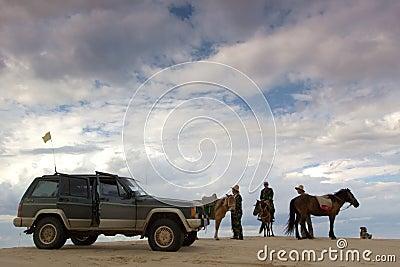 Desert exploration Editorial Stock Image