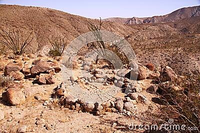 Desert fire ring