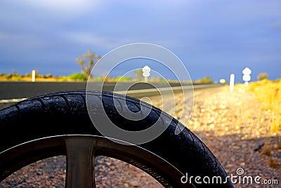 Desert Flat Tyre