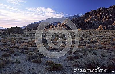 Desert foothills of Sierra Nevada, California