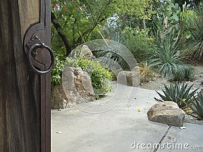 Desert garden invites you in