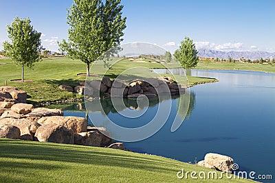 Desert Golf Course Lake