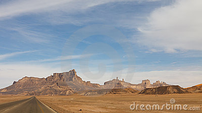 Desert Highway, Akakus Mountains, Sahara, Libya