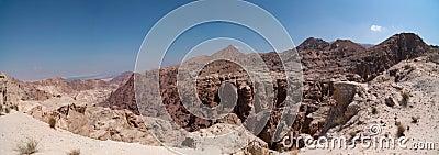 Desert hills at midday