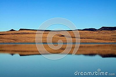 Desert Lake Reflection