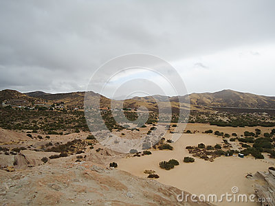 Desert Landscape with Cars