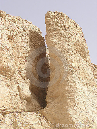 Desert limestone formation