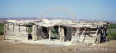 Desert Log Cabin