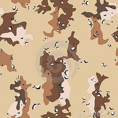 Desert military camouflage seamless pattern