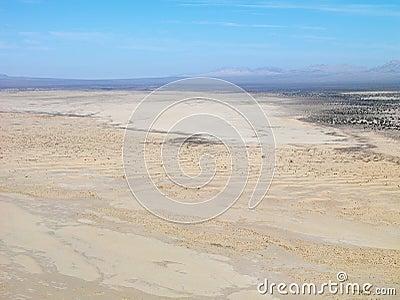 Desert and mountain range.