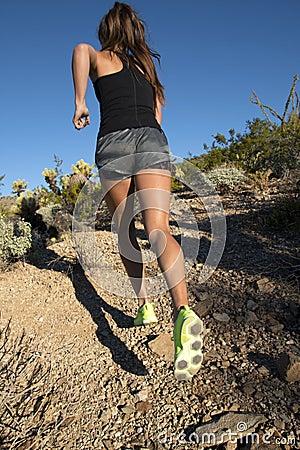 Free Desert Mountain Trail Female Runner Stock Photography - 47450772