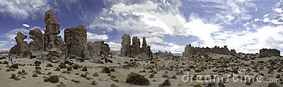 Desert panorama sand and rock landscape formation