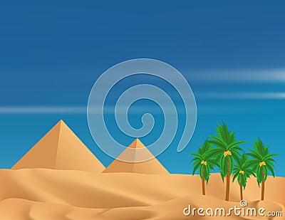 Desert and Pyramids