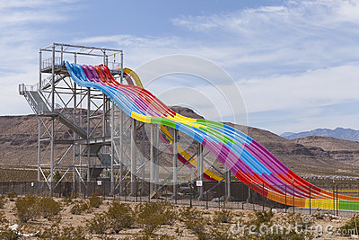 Desert Racers slide at Wet n Wild, in Las Vegas, NV on April 24, Editorial Stock Photo