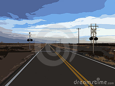 Desert Railroad Crossing