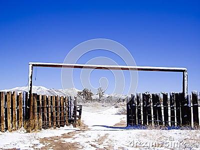 Desert ranch in Winter