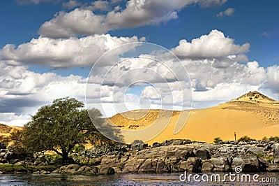 Desert and river