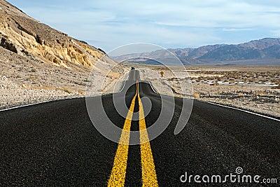 Desert road Death Valley National Park California