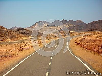 Desert road in Egypt