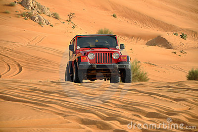 Desert safari in a jeep