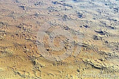 Sahara seen from plane
