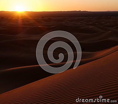 Desert Sand Dunes Sunset