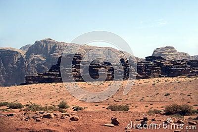 Desert scene, Wadi Rum, Jordan