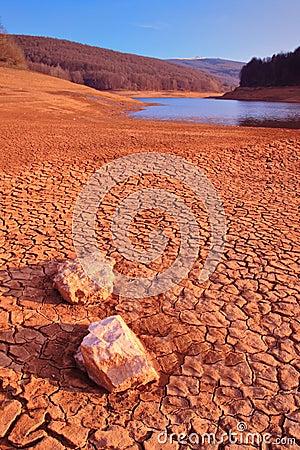 Desert scenery in Mavrovo