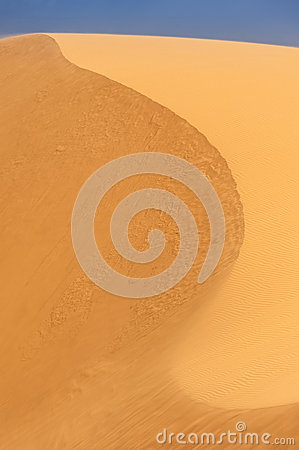 Desert shapes with blue sky