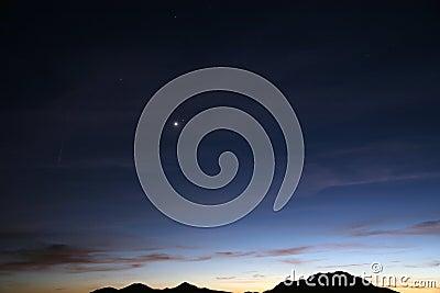 Desert sky at nightfall