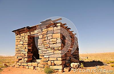 Desert stone hut