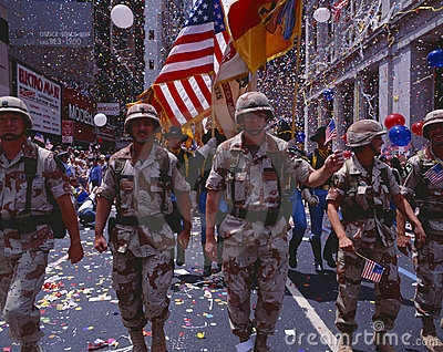 Desert Storm Victory Military Parade, Editorial Stock Photo