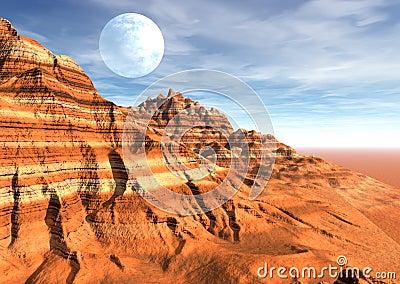 Desert strange scene planet moon