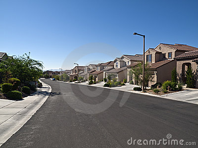 Desert Suburbia Editorial Stock Image