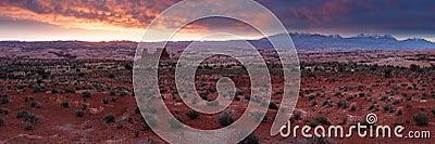Desert Sunrise Panorama