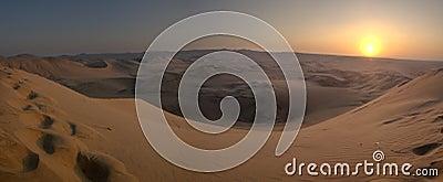 Desert sunset HDR