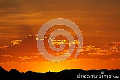 Desert sunset, Namibia