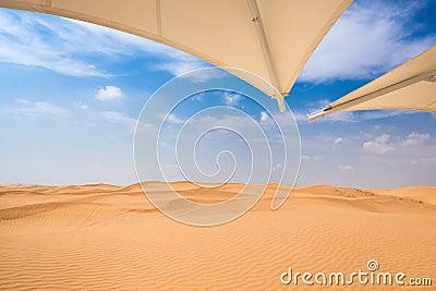 Desert  with sunshade