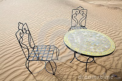 Desert table and chairs