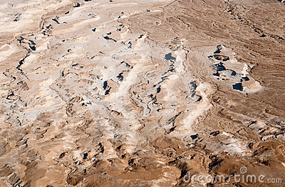 Desert terrain in Dead sea region