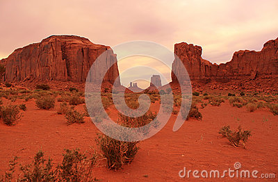 Desert view in Monument Valley, Utah, USA