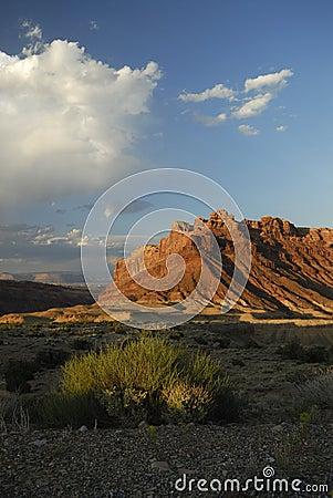 Desert view in San Rafael Swell in Utah