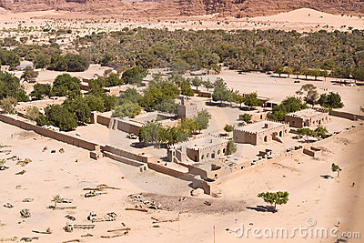 A desert village in Chad in North Africa